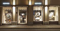 Hermès shop displays by Tim John, Fall 2013, Germany