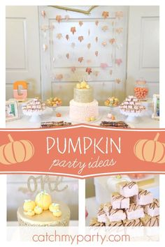 1 Year Birthday Ideas Awesome Don T Miss This Gorgeous Pumpkin themed Birthday Party October Birthday Parties, Fall 1st Birthdays, Pumpkin 1st Birthdays, 1st Birthday Party For Girls, 1st Birthday Decorations, Girl Birthday Themes, Birthday Ideas, Thanksgiving Birthday Parties, Pumpkin Themed Birthday
