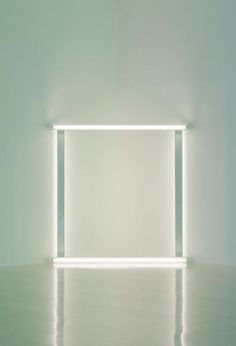 Dan Flavin, untitled (to Pia and Franz) (1966-71), via David Zwirner