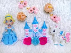 Cyber Week Sale Black Friday Sale Cinderella Doll Letter | Etsy Felt Name Banner, Name Banners, Nursery Wall Decor, Girl Nursery, Crib Decoration, Cinderella Doll, Handmade Felt, Felt Toys, Cyber
