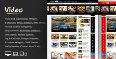 """Video News = WordPress Magazine / Newspaper Theme. Give your Blog a clean look with """"Video News"""" a Hight Quality Magazine Responsive Theme coded and designed with a lot of care and love. Completely..."""