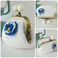 PATRÓN de Monedero en Crochet // Ganchillo PATTERN crochet coin purse