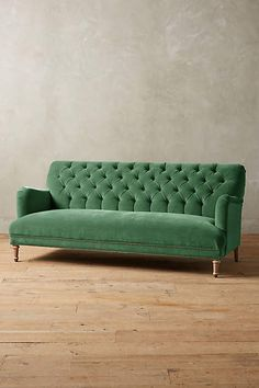 this Anthropologie green velvet sofa affiliate