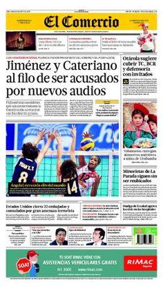 """¡Buenos días! Esta es #NuestraPortada: """"Jiménez y Cateriano al filo de ser acusados por nuevos audios"""""""