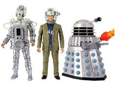 Pack 3 figuras Doctor Who. Primer Doctor, enemigos