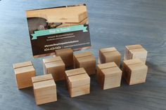 Wooden Menu Blocks - great for weddings, restaurants, photos and craft festival booths.