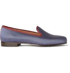 Stubbs & Wootton Embroidered Silk Slippers | MR PORTER
