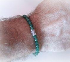 Bracciale+da+uomo+pietra+avventurina+di+BRAVE+men's+jewelry+su+DaWanda.com
