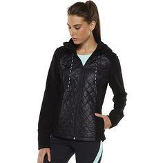 Women's FILA SPORT® Run Swift Quilted Polar Fleece Workout Jacket