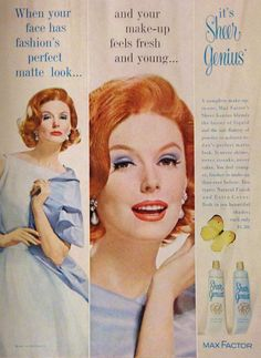 Max Factor 'Sheer Genius' Makeup Ad, 1961