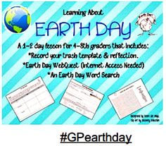 #GPEarthDay Lesson Plan: Learning About Earthday via Jessica Smith