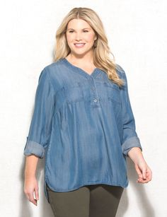 We are loving this super cute popover! Perfect for any weekend plans, pair with jeans leggings  or tuck into a skirt for a stylish look you'll want to wear over and over. Imported.