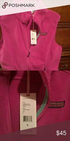 Ladies fleece vest Bright pink, soft, cozy vest. Never been worn. Perfect condition! Vineyard Vines Jackets & Coats Vests
