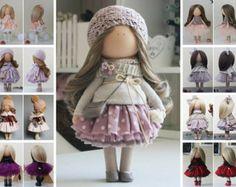Rag doll Baby doll Nursery doll Tilda doll por AnnKirillartPlace