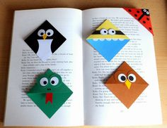 Crafty Sunflower: Corner Bookmarks