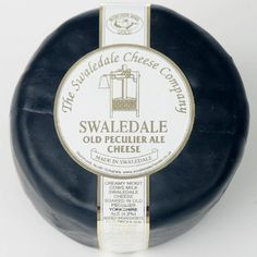 Swaledale Cheese with Old Peculiar Ale in a waxed truckle - delicious! Served as part of the cheeseboard in Harvey Nicholls, Leeds. Available from www.gastroyorkshire.co.uk suppliers of fine Yorkshire gourmet meat, cheese, cakes and deli products.