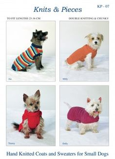 Sandra Polley Pets Dog Coats Knitting Pattern KP07 DK, Chunky | Knitting | Patterns | Minerva Crafts
