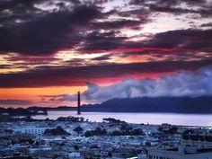 SF Foggy Sunset by T. Malachi Dunworth  on 500px