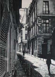 'Rue Ferou' etching and aquatint by Aoife Scott
