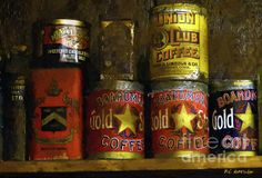 Old coffee tins.