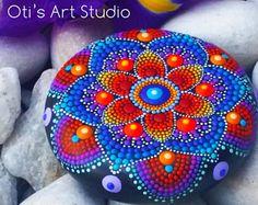 MANDALA STONE-VOSMAERI Mandala - Hand geschilderd