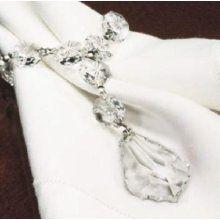 crystal drop napkin ring
