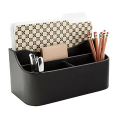 See Jane Work® Faux Leather Desk Valet, Black