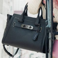 Coach Swagger Carryall in Nubuck Pebble Leather - sale handbags, cute purses for sale, handbag stores *ad