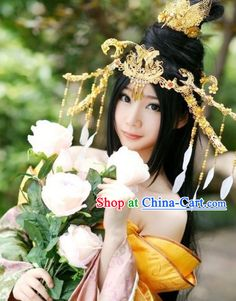 Handmade Ancient Chinese Palace Style Princess Costumes and Headpiece Complete SetOakland