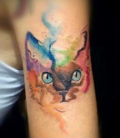 #watercolor #cattoo