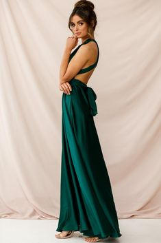 c3126c8374 Ariana Multiway Maxi Dress Green Jade