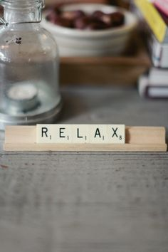 remember to relax