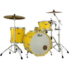 Our local music store offers the Pearl Decade Maple Shell Pack - Solid Yellow online and in-store. Go Local Pearl Drum Kit, Pearl Drums, Acoustic Drum, Acoustic Guitars, Guitar Drawing, Guitar Painting, Guitar Art, Bass Guitar Lessons, Drum Heads