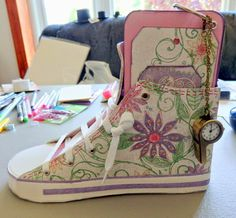 Sneaker made by Cherie Reighard