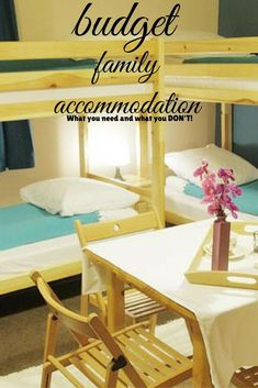 Budget family accommodation is all most families need. You need to decide whether you are on holiday to experience your hotel room or the sights and culture of your destination?