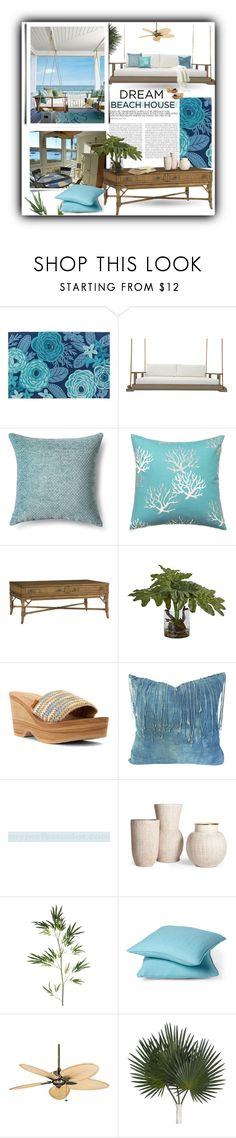 """Ocean View"" by queenofsienna ❤ liked on Polyvore featuring interior, interiors, interior design, home, home decor, interior decorating, Décor 140, Southern Komfort Bedswings, Tommy Bahama and Nearly Natural"