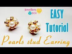 Gold earrings made in Europe will have various markings. For example, will be marked as will be marked as and 12 K will be marked as Wire Wrapped Earrings, Pearl Stud Earrings, Pearl Studs, Beaded Earrings, Gold Earrings, Diy Earrings Easy, How To Make Earrings, Free Beading Tutorials, Jewelry Making Tutorials