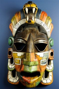 Mayan Mask, amazing of ancient civilization. Mayan Mask, Living Puppets, Ceramic Mask, Inka, Art Premier, Aztec Art, Art Africain, Mesoamerican, Masks Art