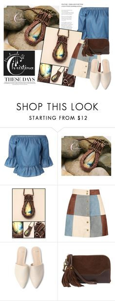 """SHOP - Handmade By Christina"" by ladymargaret ❤ liked on Polyvore featuring Boohoo and Frye"