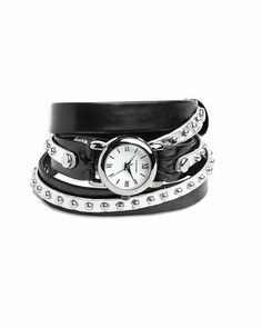 Black wrap watch