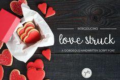 Love Struck Script Handwritten Font. Script Fonts. $5.00