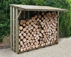 Keep your logs dry, organised and fit for purpose with the Flip Roof Log Store. This practical log store is up to the job with a pressure treated timber construction and boasts a lift up roof section for additional shelter and easy access. Outdoor Firewood Rack, Firewood Shed, Firewood Storage, Firewood Holder, Wood Storage Sheds, Stacking Firewood, Log Shed, Log Store, Wooden Sheds