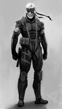 Let's say for fun that Snake wanted to keep doing his military-saving-the-world-super-soldiering, and had his remaining functional body parts merged with a cyborg body like Raiden.  Probably n...