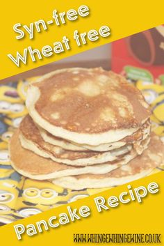 This yummy, simple pancake recipe uses blitzed oats (or ready brek) as an alternative to wheat or gluten making it great for gluten free diets or coeliacs, and it is syn-free using HEx on Slimming World, and good for Weight Watchers or calories counters too. #glutenfree #pancakes #synfree #slimmingworld #wwrecipes #slimmingworldrecipes #glutenfreepancakes #oatpancakes #pancakerecipe #readybrek #readybrekpancake #recipe