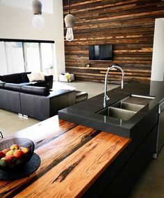 How to select the right kitchen benchtop [Kitchen Ideas Kitchen Decor Kitchen Benchtop Kitchen Remodel Interior Design Interior Design Ideas Home Decor Ideas Home Decor on a Budget] Solid Wood Kitchens, Black Kitchens, Luxury Kitchens, Kitchen Black, Modern Kitchens, Kitchen Contemporary, Kitchen Small, Small Kitchens, Kitchen Modern