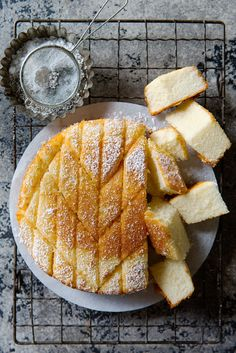 This hot milk cake recipe yields something similar to a sponge cake in texture but way easier to make. It's basically a vanilla cake made from scalded milk. Baking Recipes, Cake Recipes, Dessert Recipes, Easy Cookie Recipes, Hot Milk Cake, Hot Milk Sponge Cake Recipe, Snacks, Cookies Et Biscuits, Food Cakes