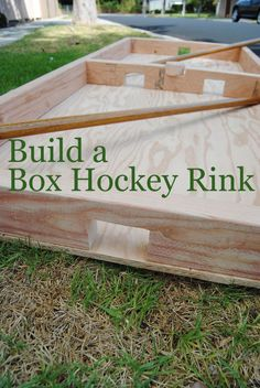 Build this Classic Game of Box Hockey – No Ice Required