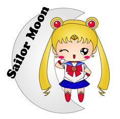 Sailor Moon. Il vecchio disegno in vettoriale del personaggio principale di un manga. Ideato per un adesivo. #giuliabasolugrafica #graphic #illustration #drawing #illustrator #digitalart #vector #sailormoon #manga #cute