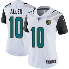 Women's Nike Jacksonville Jaguars #10 Brandon Allen White Vapor Untouchable Limited Player NFL Jersey