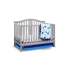 Graco Solano 4-in-1 Convertible Crib with Mattress, Grey